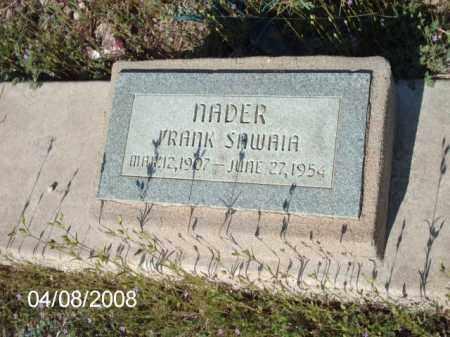 SAWAIA, NADER FRANK - Gila County, Arizona | NADER FRANK SAWAIA - Arizona Gravestone Photos