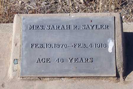 THOMPSON SAYLER, SARAH R. - Gila County, Arizona | SARAH R. THOMPSON SAYLER - Arizona Gravestone Photos