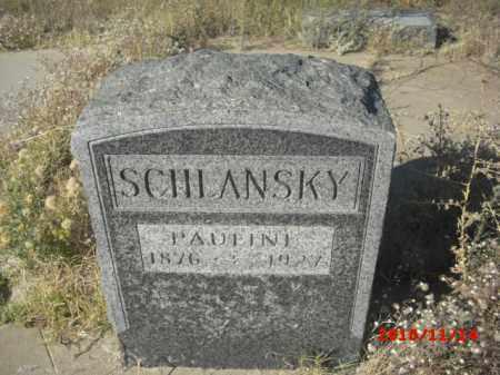SCHLANSKY, PAULINE - Gila County, Arizona | PAULINE SCHLANSKY - Arizona Gravestone Photos