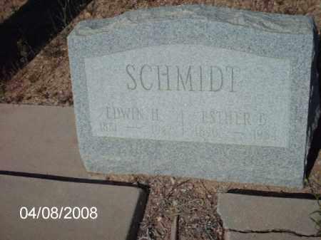 SCHMIDT, ESTHER B. - Gila County, Arizona | ESTHER B. SCHMIDT - Arizona Gravestone Photos