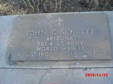 SCHULTZ, JOHN C. - Gila County, Arizona | JOHN C. SCHULTZ - Arizona Gravestone Photos