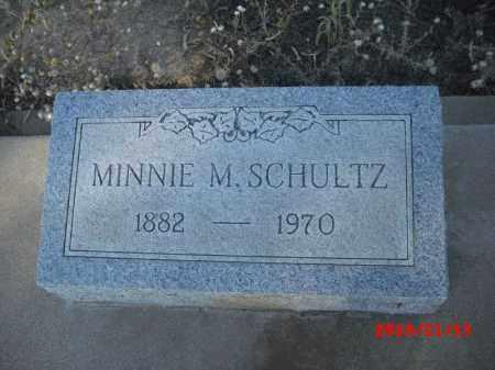 SCHULTZ, MINNIE M. - Gila County, Arizona   MINNIE M. SCHULTZ - Arizona Gravestone Photos