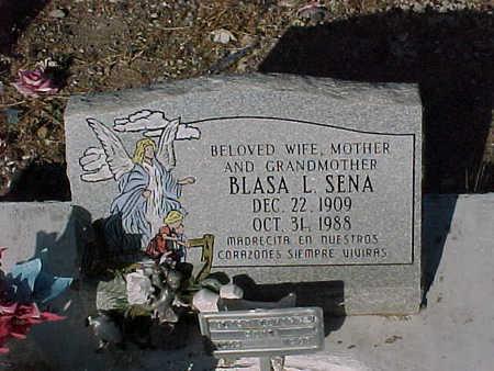 SENA, BLASA  L. - Gila County, Arizona | BLASA  L. SENA - Arizona Gravestone Photos