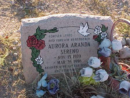 SERENO, AURORA - Gila County, Arizona | AURORA SERENO - Arizona Gravestone Photos