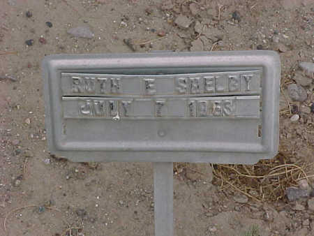 SHELBY, RUTH  E. - Gila County, Arizona | RUTH  E. SHELBY - Arizona Gravestone Photos