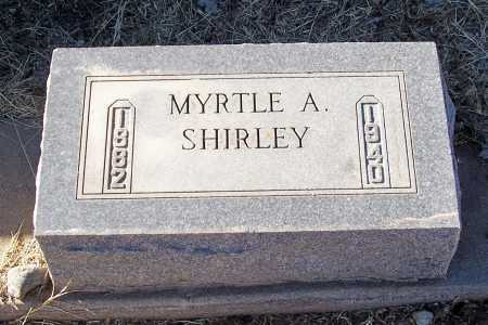 SHIRLEY, MYRTLE A. - Gila County, Arizona | MYRTLE A. SHIRLEY - Arizona Gravestone Photos