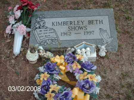 SHOWS, KIMBERLEY  BETH - Gila County, Arizona | KIMBERLEY  BETH SHOWS - Arizona Gravestone Photos