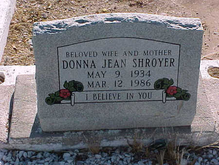 SHROYER, DONNA  JEAN - Gila County, Arizona | DONNA  JEAN SHROYER - Arizona Gravestone Photos