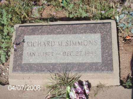 SIMMONS, RICHARD M. - Gila County, Arizona | RICHARD M. SIMMONS - Arizona Gravestone Photos