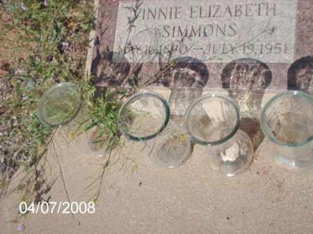 SIMMONS, VINNIE ELIZABETH - Gila County, Arizona | VINNIE ELIZABETH SIMMONS - Arizona Gravestone Photos