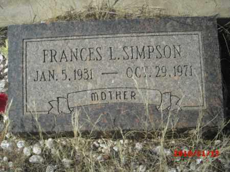 SIMPSON, FRANCES - Gila County, Arizona | FRANCES SIMPSON - Arizona Gravestone Photos