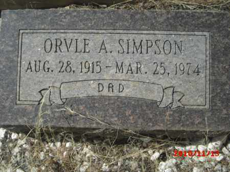 SIMPSON, ORVLE A. - Gila County, Arizona | ORVLE A. SIMPSON - Arizona Gravestone Photos