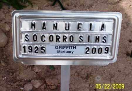 MANRIQUEZ SIMS, MANUELA SOCORRO - Gila County, Arizona | MANUELA SOCORRO MANRIQUEZ SIMS - Arizona Gravestone Photos