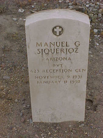SIQUERIOZ, MANUEL G. - Gila County, Arizona | MANUEL G. SIQUERIOZ - Arizona Gravestone Photos