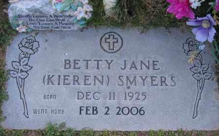 KIEREN SMYERS, BETTY - Gila County, Arizona | BETTY KIEREN SMYERS - Arizona Gravestone Photos