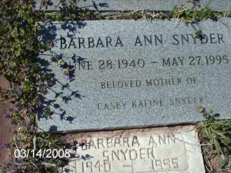 SNYDER, BARBARA - Gila County, Arizona   BARBARA SNYDER - Arizona Gravestone Photos