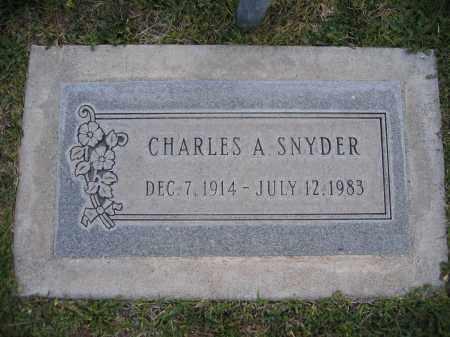 SNYDER, CHARLES - Gila County, Arizona | CHARLES SNYDER - Arizona Gravestone Photos