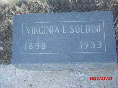SOLDINI, VIRGINIA L. - Gila County, Arizona | VIRGINIA L. SOLDINI - Arizona Gravestone Photos