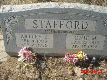 STAFFORD, ARTLEY E. - Gila County, Arizona | ARTLEY E. STAFFORD - Arizona Gravestone Photos