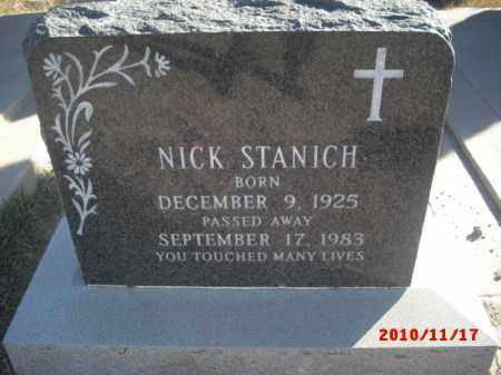 STANICH, NICK - Gila County, Arizona | NICK STANICH - Arizona Gravestone Photos