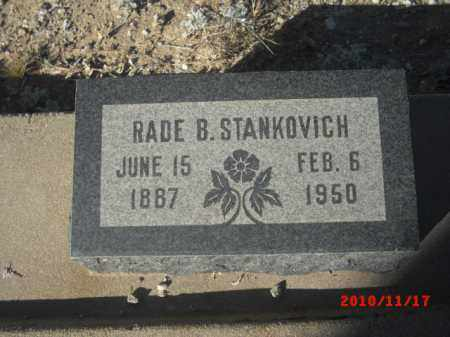 STANKOVICH, RADE B. - Gila County, Arizona   RADE B. STANKOVICH - Arizona Gravestone Photos