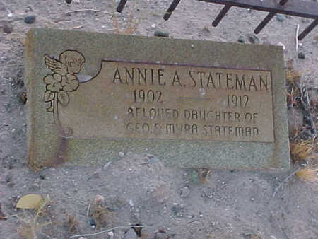 STATEMAN, ANNIE  A. - Gila County, Arizona   ANNIE  A. STATEMAN - Arizona Gravestone Photos