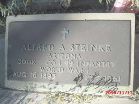 STEINKE, ALFRED  A. - Gila County, Arizona   ALFRED  A. STEINKE - Arizona Gravestone Photos