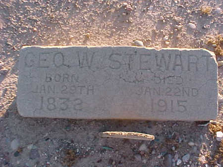 STEWART, GEORGE  W. - Gila County, Arizona | GEORGE  W. STEWART - Arizona Gravestone Photos