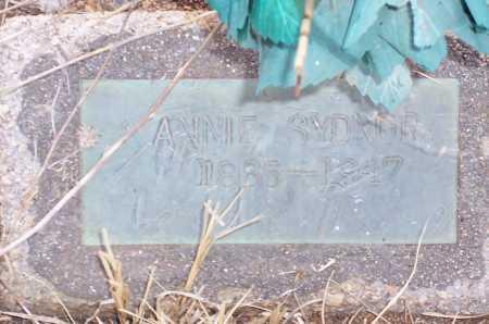 SYDNOR, ANNIE - Gila County, Arizona | ANNIE SYDNOR - Arizona Gravestone Photos