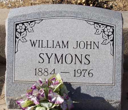 SYMONS, WILLIAM JOHN - Gila County, Arizona | WILLIAM JOHN SYMONS - Arizona Gravestone Photos
