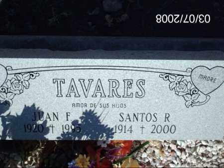 TAVARES, JUAN - Gila County, Arizona | JUAN TAVARES - Arizona Gravestone Photos