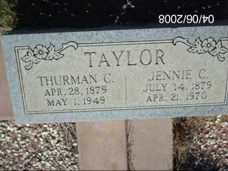 TAYLOR, JENNIE C. - Gila County, Arizona   JENNIE C. TAYLOR - Arizona Gravestone Photos