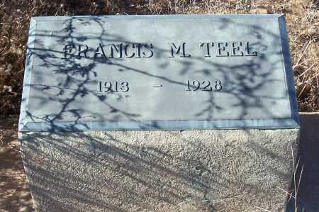 TEEL, FRANCIS M. - Gila County, Arizona | FRANCIS M. TEEL - Arizona Gravestone Photos