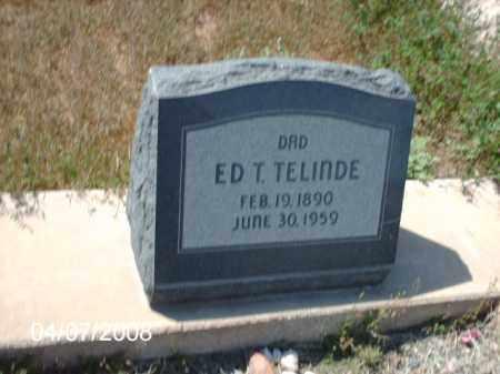 TELINDE, ED - Gila County, Arizona | ED TELINDE - Arizona Gravestone Photos