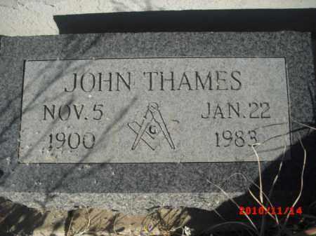 THAMES, JOHN - Gila County, Arizona | JOHN THAMES - Arizona Gravestone Photos