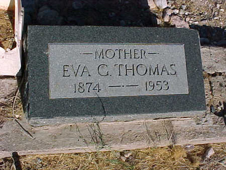 THOMAS, EVA  G. - Gila County, Arizona | EVA  G. THOMAS - Arizona Gravestone Photos