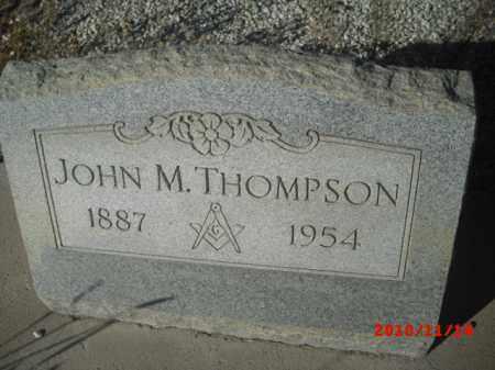 THOMPSON, JOHN M. - Gila County, Arizona | JOHN M. THOMPSON - Arizona Gravestone Photos