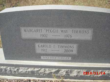 TIMMONS, GAROLD E. - Gila County, Arizona | GAROLD E. TIMMONS - Arizona Gravestone Photos
