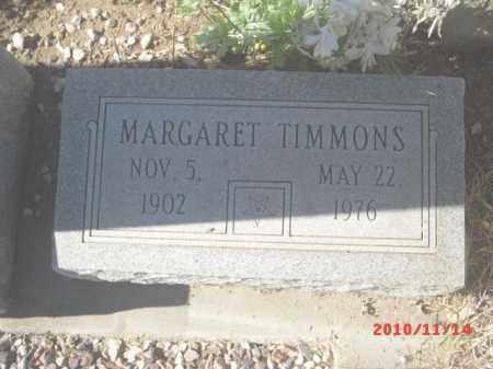 TIMMONS, MARGARET - Gila County, Arizona   MARGARET TIMMONS - Arizona Gravestone Photos
