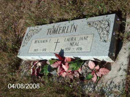 TOMERLIN, BENJAMIN  F. - Gila County, Arizona | BENJAMIN  F. TOMERLIN - Arizona Gravestone Photos