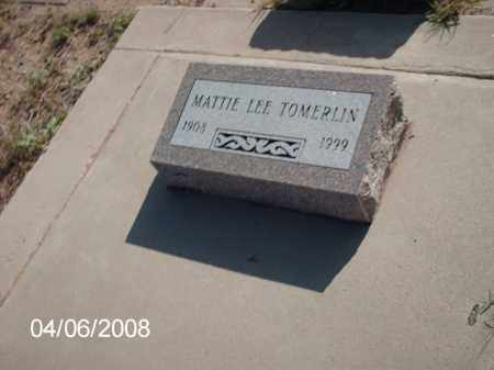 TOMERLIN, MATTIE LEE - Gila County, Arizona | MATTIE LEE TOMERLIN - Arizona Gravestone Photos