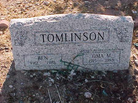 TOMLINSON, OMA  M. - Gila County, Arizona | OMA  M. TOMLINSON - Arizona Gravestone Photos