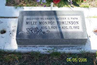 TOMLINSON, MILZE MONROE - Gila County, Arizona | MILZE MONROE TOMLINSON - Arizona Gravestone Photos