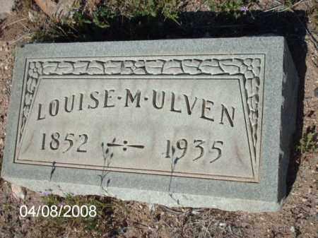 ULVEN, LOUISE M. - Gila County, Arizona   LOUISE M. ULVEN - Arizona Gravestone Photos