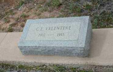 VALENTINE, CLAIBORNE EMIL (C.E.) - Gila County, Arizona | CLAIBORNE EMIL (C.E.) VALENTINE - Arizona Gravestone Photos