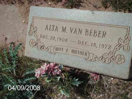 VAN BEBER, ALTA - Gila County, Arizona | ALTA VAN BEBER - Arizona Gravestone Photos