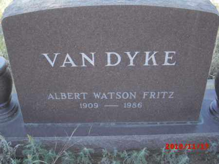 VAN DYKE, ALBERT WATSON FRITZ - Gila County, Arizona   ALBERT WATSON FRITZ VAN DYKE - Arizona Gravestone Photos
