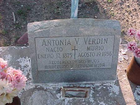 VERDIN, ANTONIA  V. - Gila County, Arizona | ANTONIA  V. VERDIN - Arizona Gravestone Photos