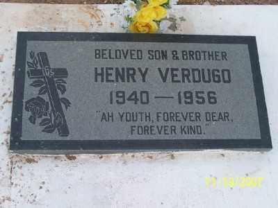 "VERDUGO, ENRIQUE ""HENRY"" G. - Gila County, Arizona | ENRIQUE ""HENRY"" G. VERDUGO - Arizona Gravestone Photos"