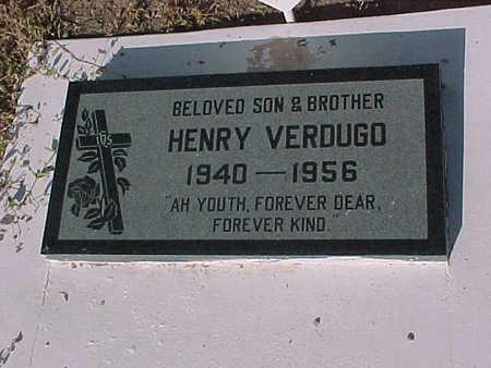 VERDUGO, HENRY - Gila County, Arizona   HENRY VERDUGO - Arizona Gravestone Photos